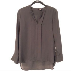 Banana Republic Black Chiffon Long Sleeve Blouse
